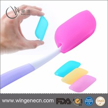 Durable travel toothbrush case/silicone toothbrush head cover/ toothbrush cover