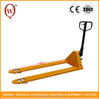 With Low Height Working 3 Ton HPT6180-3T PU or Rubber High Lift Hydraulic Hand Pallet Truck Wheel