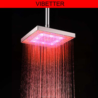 "20"" brushed nickel led rainfall big shower"