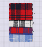 Bobai textile 100% cotton yarn dyed flannel fabric for school uniform