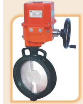 Motorized electrical actuator operated butterfly valve for Motor operated butterfly valve