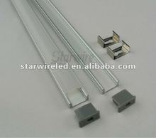2012 NEWEST U shape aluminium profile for flexible led strip with transparent PC cover