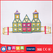 Factory Manufacture Various Plastic Building Pipe Magnetic Rod Toys