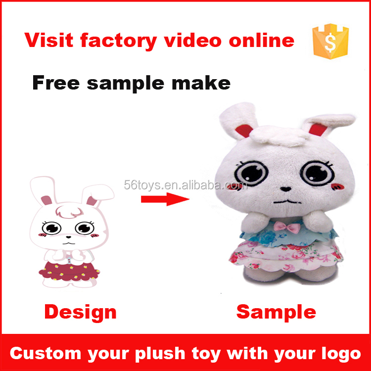factory OEM soft custom rabbit plush toy