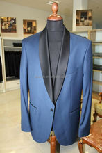 High quality shawl lapel royal blue men's fashion bespoke custom made 100% wool cashmere wedding suit men business suits