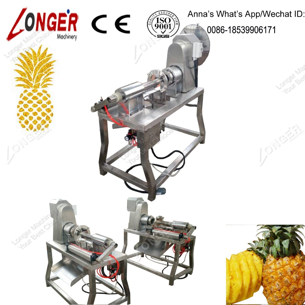 New Design Industrial Pineapple Core Removing Machine/Peeling Pineapple Equipment