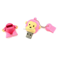 Alibaba express Monkey USB flash memory , Bulk 8G cartoon shape USB flash drive (pink 512MB to 64GB)