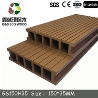 low cost floor wpc/nature look decking floor/water resistant board wpc