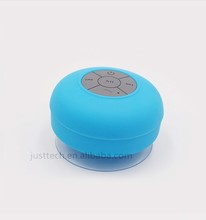 Waterproof Rubber finish with silicone sucker Wireless Bluetooth Speaker using for bath