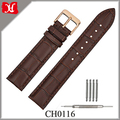 Fashion and Classic Design 20mm Brown Watch Bands Leather Watch Strap with Stainless Steel Watch Buckle
