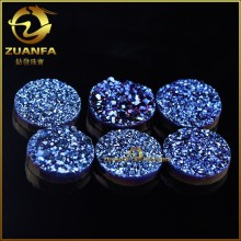 new popular wholesale loose natural blue drusy quartz stones