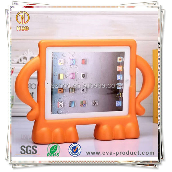 Child Stand Anti Shock Rubber Laptop Protective Cover for iPad 2 3 4