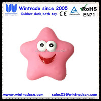 Floating vinyl rubber starfish bath toy