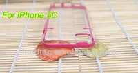 Crystal Hard PC Case for iPhone 5C, Colorful Rubber Clear Back Cover Case for iPhone 5C