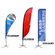 Hot-selling custom fiberglass pole cross base beach flag