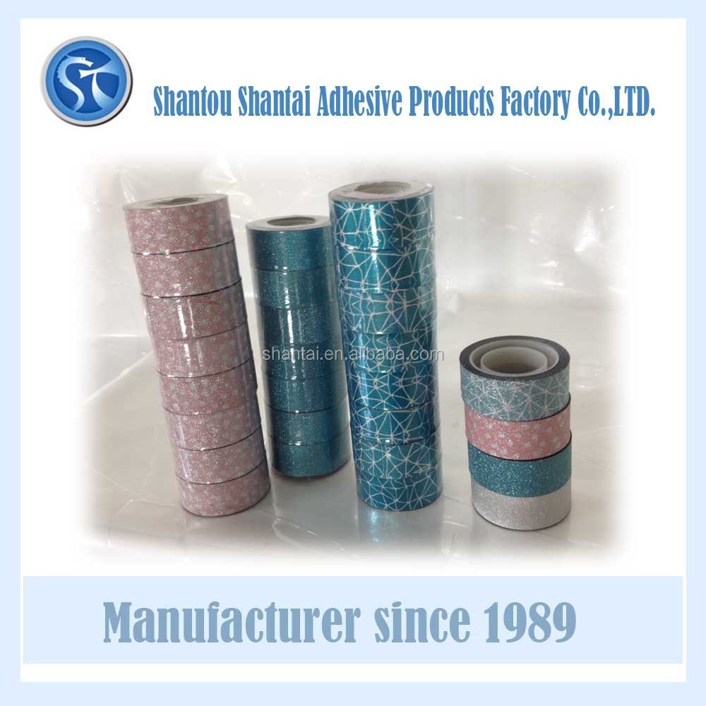Glitter tape for decoration