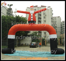Factory price inflatable Christmas satan arch , outdoor christmas arches , inflatable santa arch
