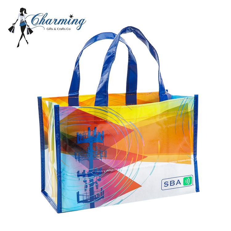 Customized laminated reusable shoe packaging shopping pp non woven bag