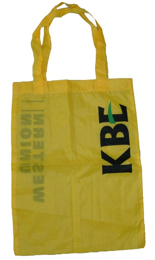Popular Supermarket Shape Cheap Nylon Folding Shopping Bag