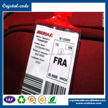 Colorful customized shape airline baggage tag