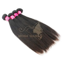 Hot selling silky straight hair extension grade 6A natural color virgin russian hair