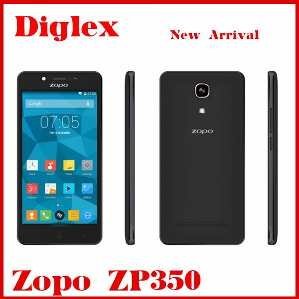 Original ZOPO ZP350 Android Phone Dual sim 4G 3G Wcdma 1GB/8GB Mtk6735 Quad Core Mobile Phone