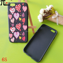 Guangzhou phone case factory custom 3d embossed painting cell phone case for iphone 6S