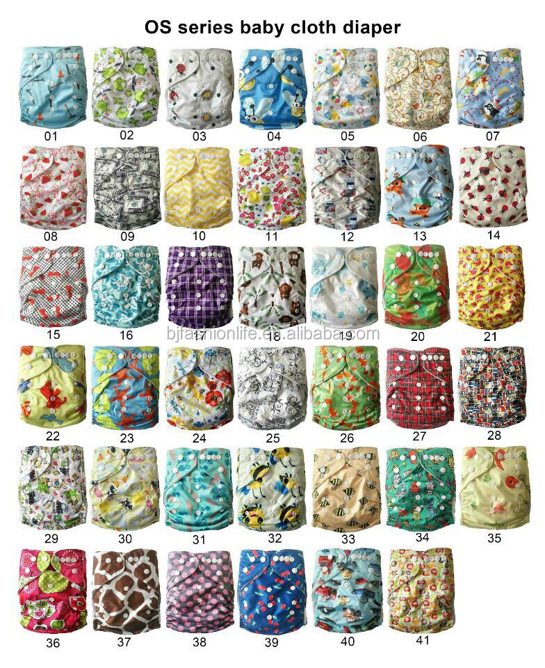 Manufacturer wholesaler of reusable washable baby cloth diaper factory in China one size pocket diaper nappy for babies OS