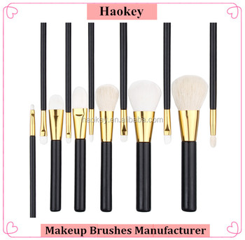 12pcs/set Pro Beauty Cosmetic Black Glod Goat Hair Makeup Brushes Foundation Blending Blush Make up Brush tool Kit Set