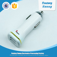 Mobile phone accessories mini dual port battery usb smart car charger
