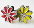 positive energy metal daisy flower craft 8mm slide charm