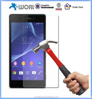 High quality 9H hardness 2.5D 0.33mm tempered glass screen protector for sony xperia z2