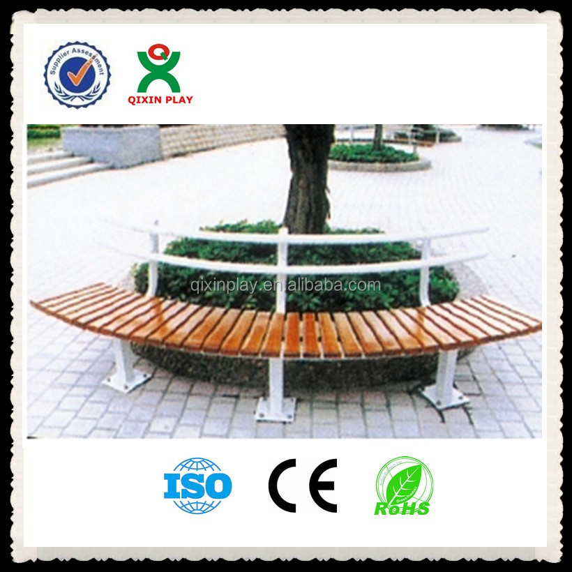 Top design! metal tree bench/park bench parts for hot sale(QX-144K)