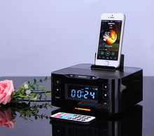 LCD Screen Hotel Charge Dock BT Wireless Speaker With Alarm Clock