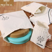Grain storage bags small cotton cloth drawstring pouch canvas gift bag