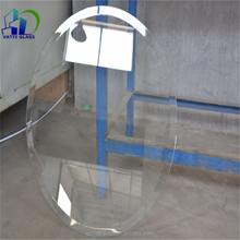 Round Beveled Tempered Dining Table Glass
