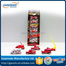 Lovely die cast metal Sliding Alloy city Fire Set toys car