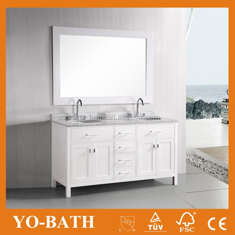 Factory double sink used bathroom vanity cabinet with marble countertop buy bathroom vanity Used bathroom vanity with sink