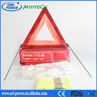 OP new product DIN13164L FDA CE ISO approved oem wholesale professional waterproof nylon auto car roadside emergency kit