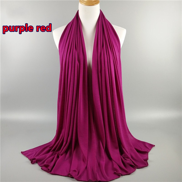 Solid color high quality modal cotton fabric scarf musilim women scarf shawl hijab jersey scarf