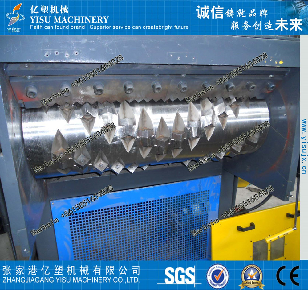 industry single shaft shredder/hard plastic block shredding machine/lump shredder