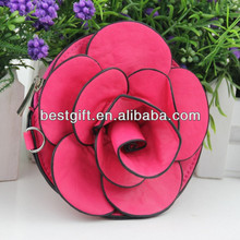 PU rose flower coin purse, red, yellow, purple, white flower shape coin purse, beautiful coin bag, good gift for lady