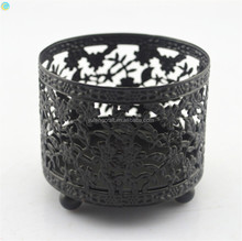 small metal tea light holder flower arrangement