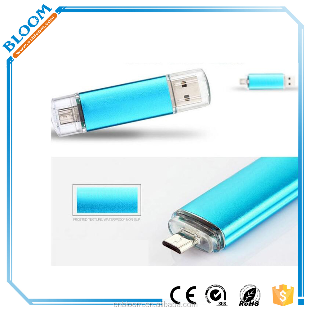 Factory Price High Quality Otg Pendrive Stock Products Status Metal OTG Dual Port USB Flash Drive for smartphone PC Tablet