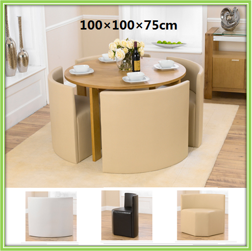 New Design Space Saving Round Chinese Dining Table Set
