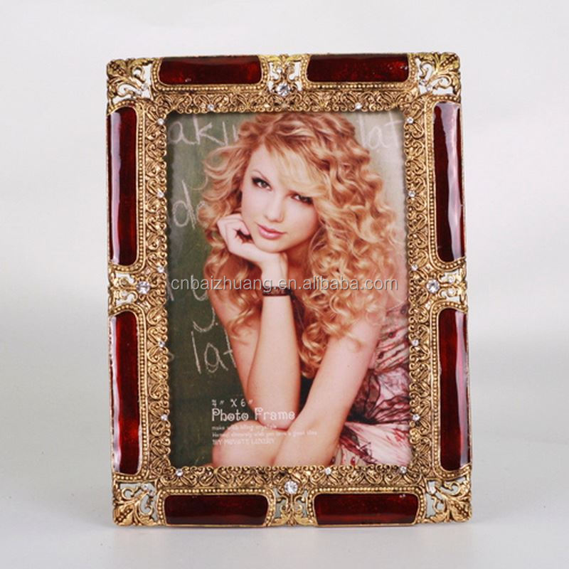 photo frame water globe aluminum photo picture frame photo frame alarm clock