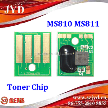 Compatible Lex MS810 MS811 toner chip 25K 5 regions version available 100% tested