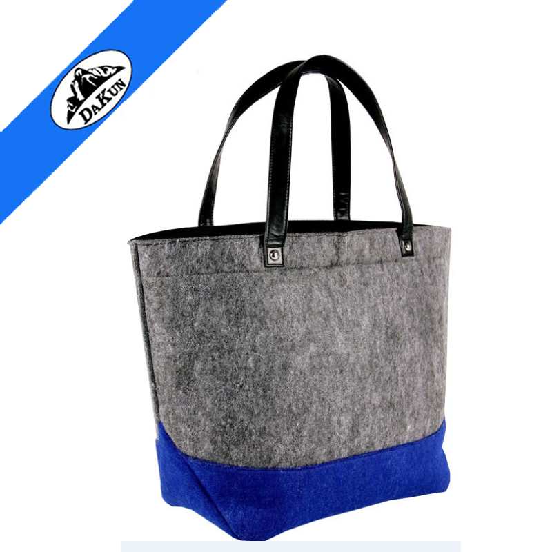Wholesale eco promotional custom polyester felt carry shopping tote gift bag