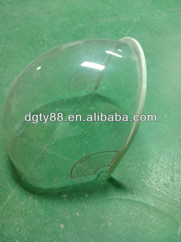 PC vacuum forming windshield/motorcycle helmet windshield