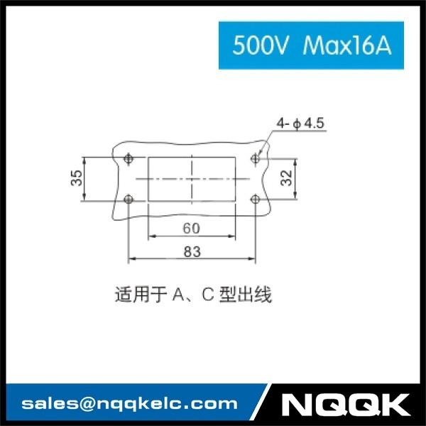 3 HDC HE 01S 500V Max16A  Industrial rectangular plug socket heavy duty connector.jpg